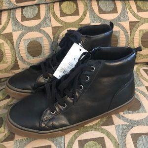 Cat & Jack Boys Black Boots Brogues 5 NEW School